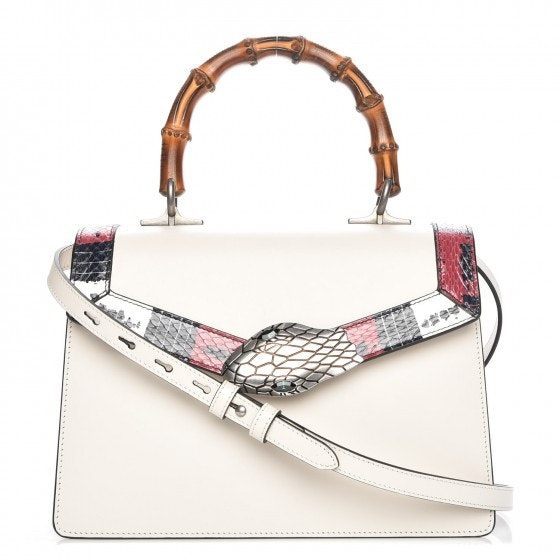 Gucci Lilith Bamboo Top Handle Snake Head Closure White/Red/Blue/Black
