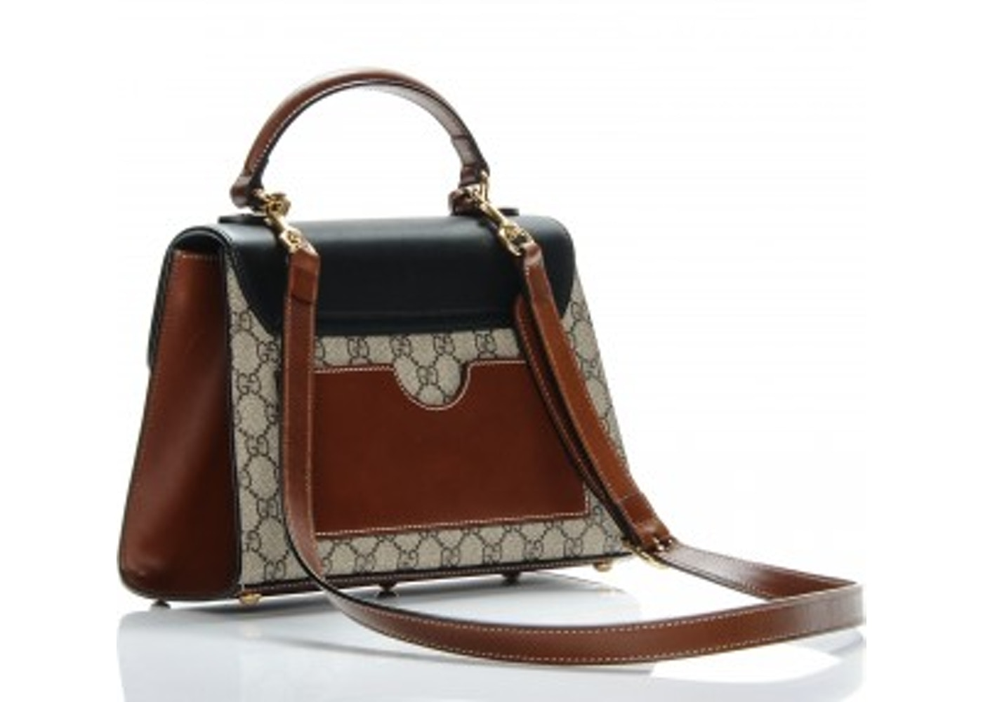 acbcf2650 Gucci Padlock Top Handle GG Supreme Monogram Small