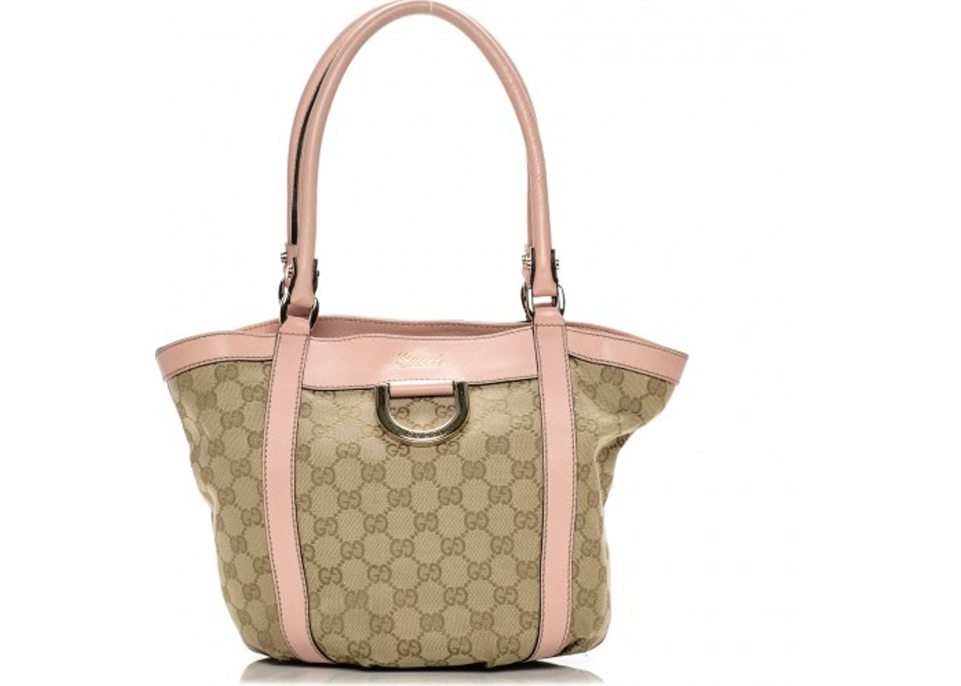 3bc24f72811 Gucci D Ring Tote Monogram GG Small Pink/Gold