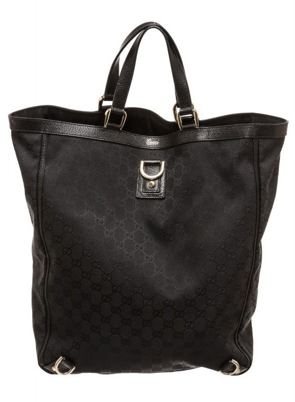 Gucci D-Ring Tote Monogram GG Black
