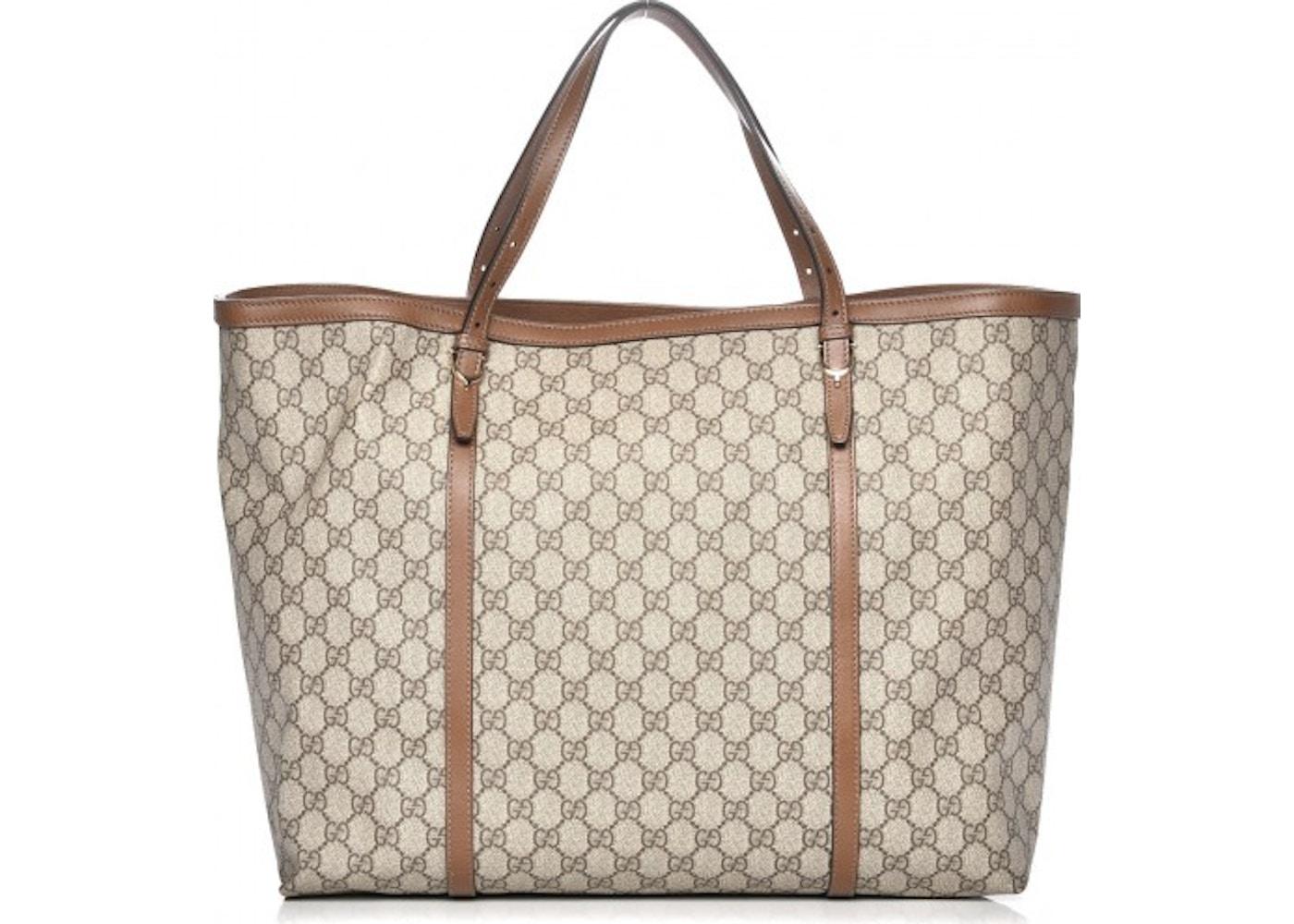 9956012c1310da Gucci Nice Tote Monogram GG Supreme Large Brown/Beige