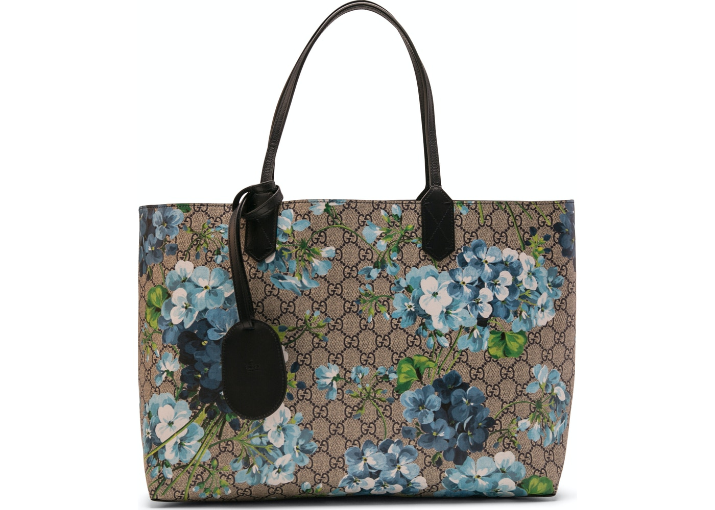 20d725404234 Gucci Reversible Tote GG Blooms Medium Beige/Blue. GG Blooms Medium  Beige/Blue