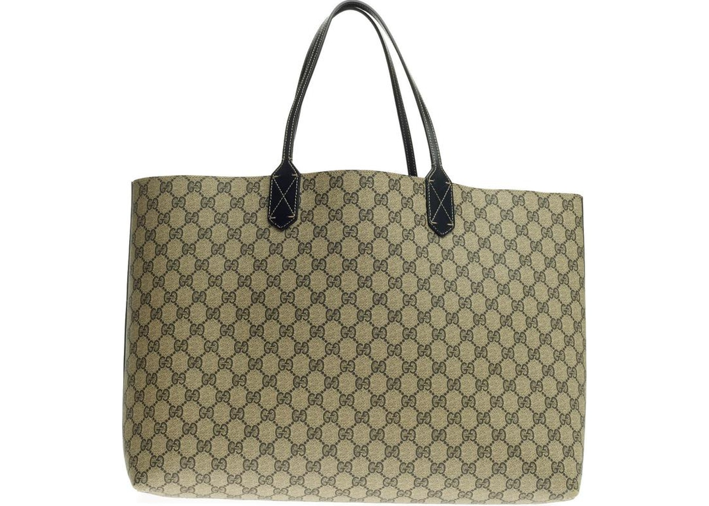 28a5a203b73974 Sell. or Ask. View All Bids. Gucci Reversible Tote GG Gucci Logo Embossing  Large Black/Beige