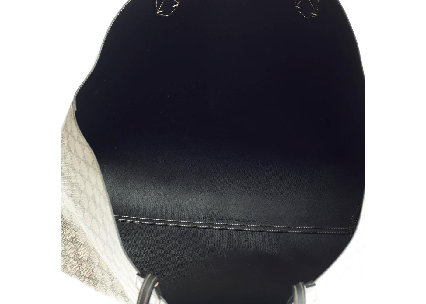 e134fad5d4abb7 Gucci Reversible Tote GG Gucci Logo Embossing Large Black/Beige