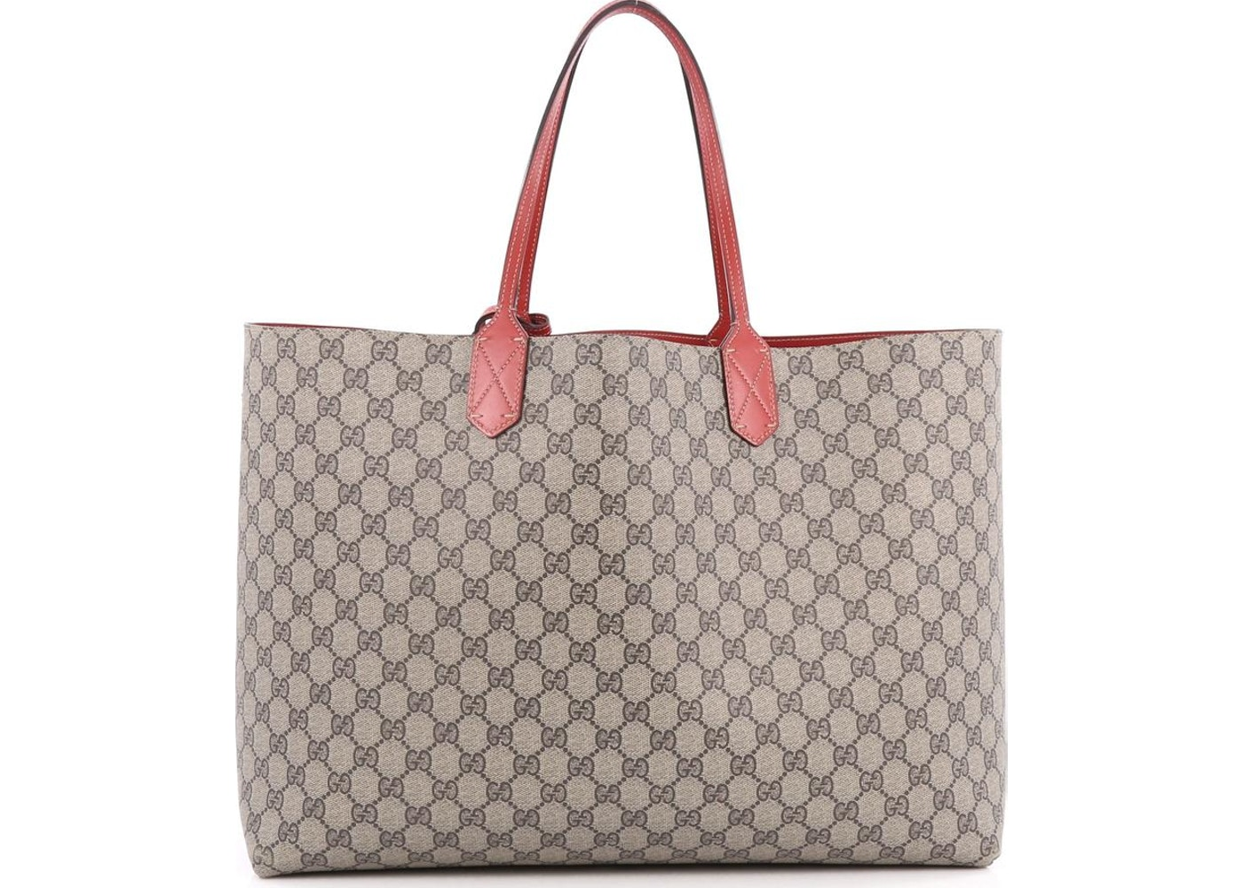 396403c8e671c8 Sell. or Ask. View All Bids. Gucci Reversible Tote GG Gucci Logo Embossing  Medium Red/Beige