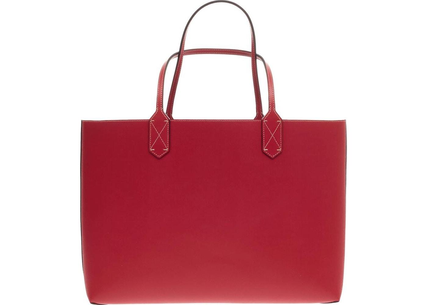 47c3827b8b9 Gucci Reversible Tote GG Gucci Logo Embossing Medium Red Beige