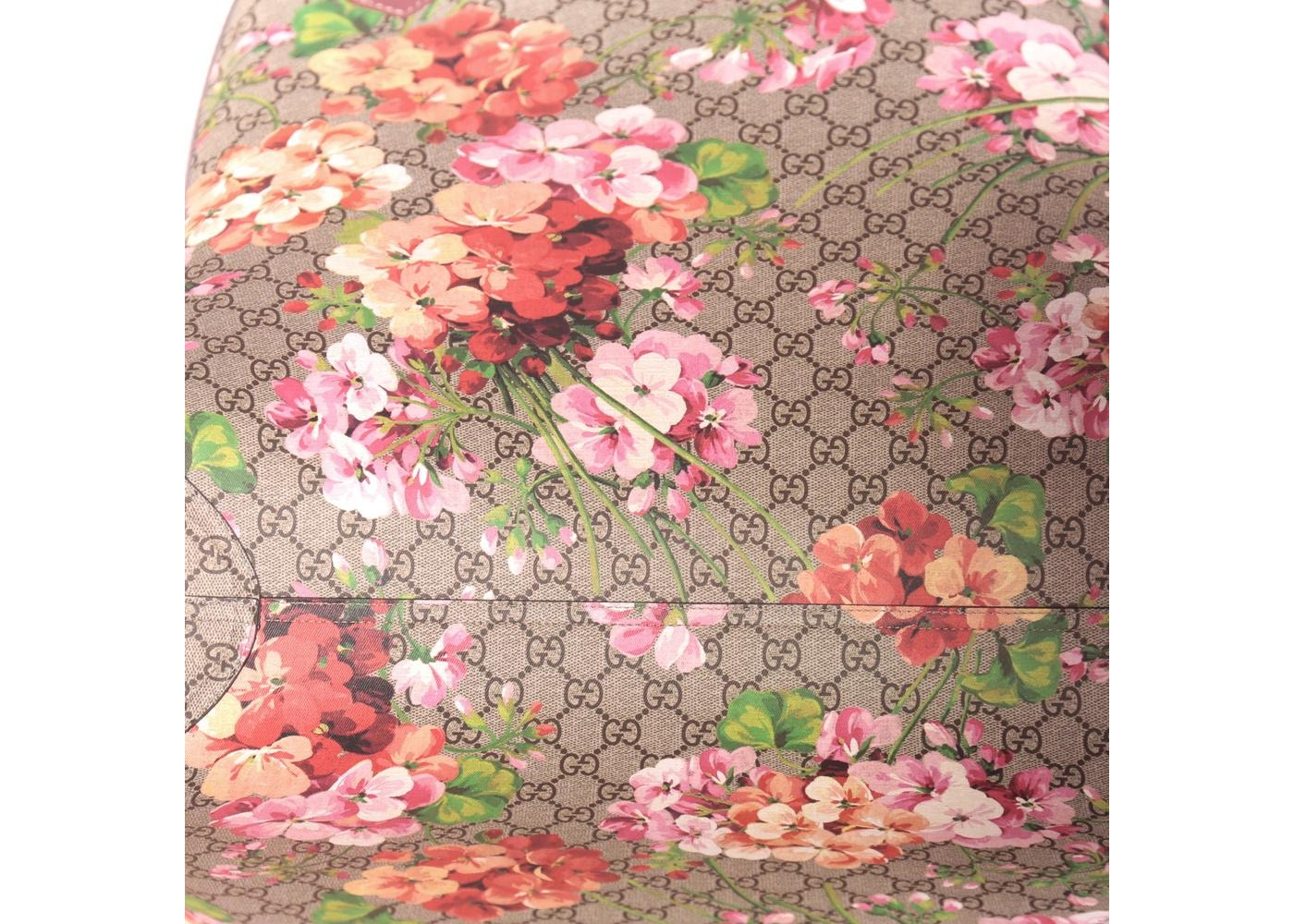 7f2b2b134 Gucci Reversible Tote GG Blooms Large Antique Rose
