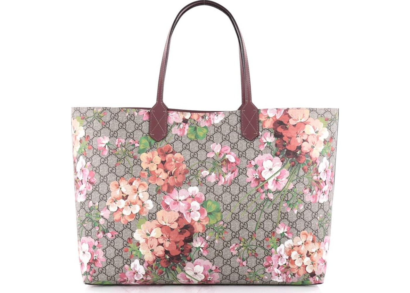 6c6be96b7 Gucci Reversible Tote GG Blooms Large Antique Rose. GG Blooms Large Antique  Rose