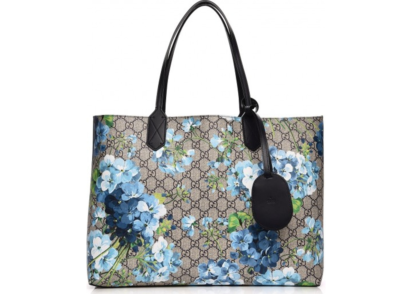 72ac0b7161e0 Gucci Reversible Tote Monogram GG Supreme Blooms Medium Beige ...