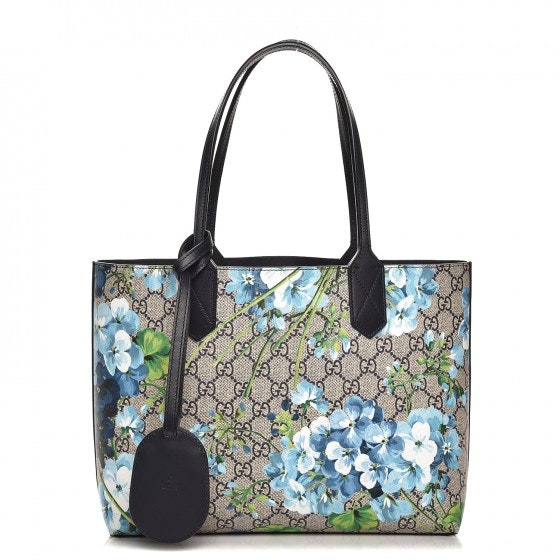 Gucci Reversible Tote Blooms GG Small Blue/Beige/White/Green