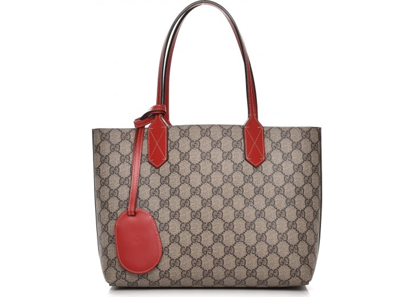 c79aae07f270 Gucci Reversible Tote GG Supreme Small Beige/Red