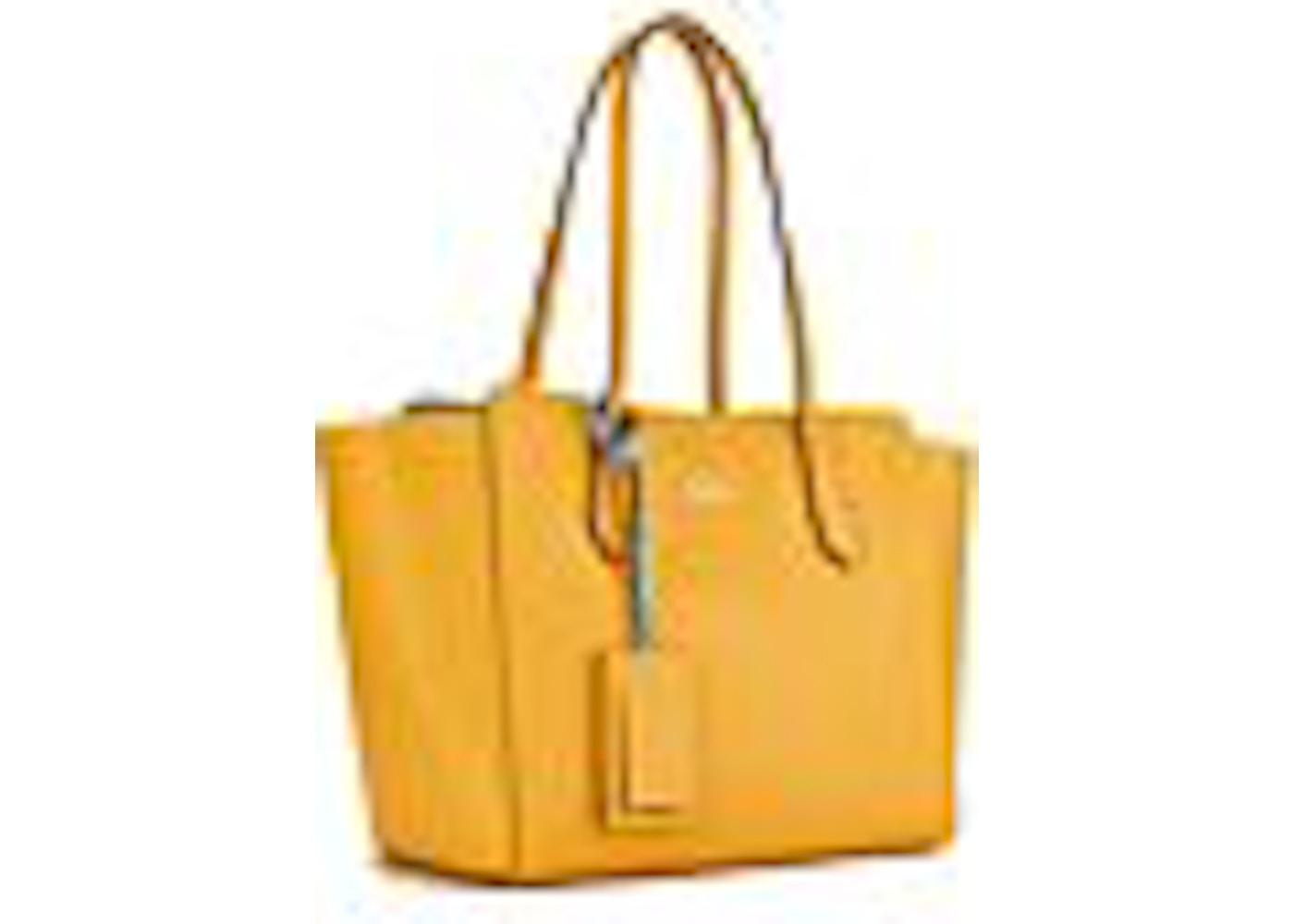 cf4375b04889 Gucci Swing Tote GG Embossed Gucci Logo Small Yellow