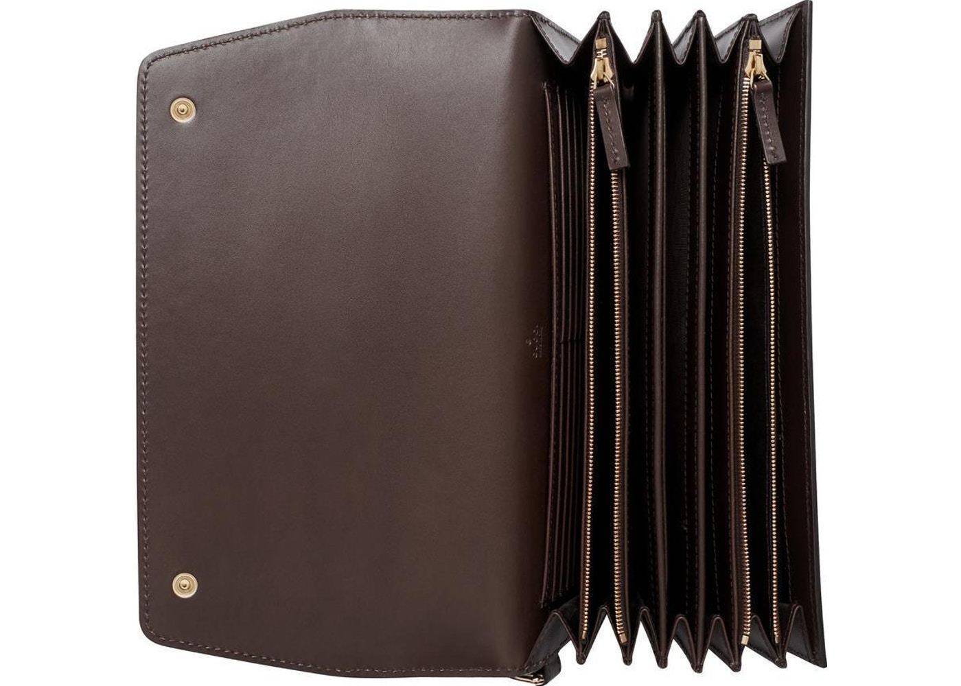 cbdb1e3b2491 Gucci Travel Document Case Wallet Supreme Monogram GG Beige/Ebony