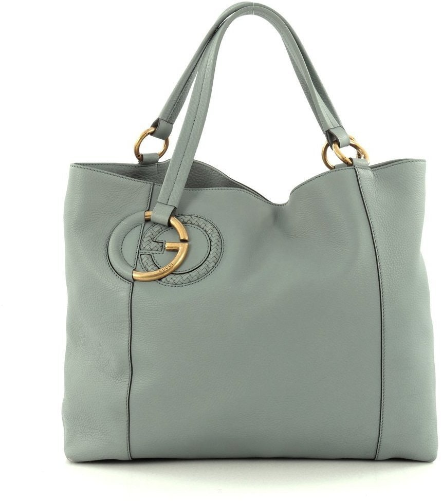 Gucci Twill Tote Medium Green