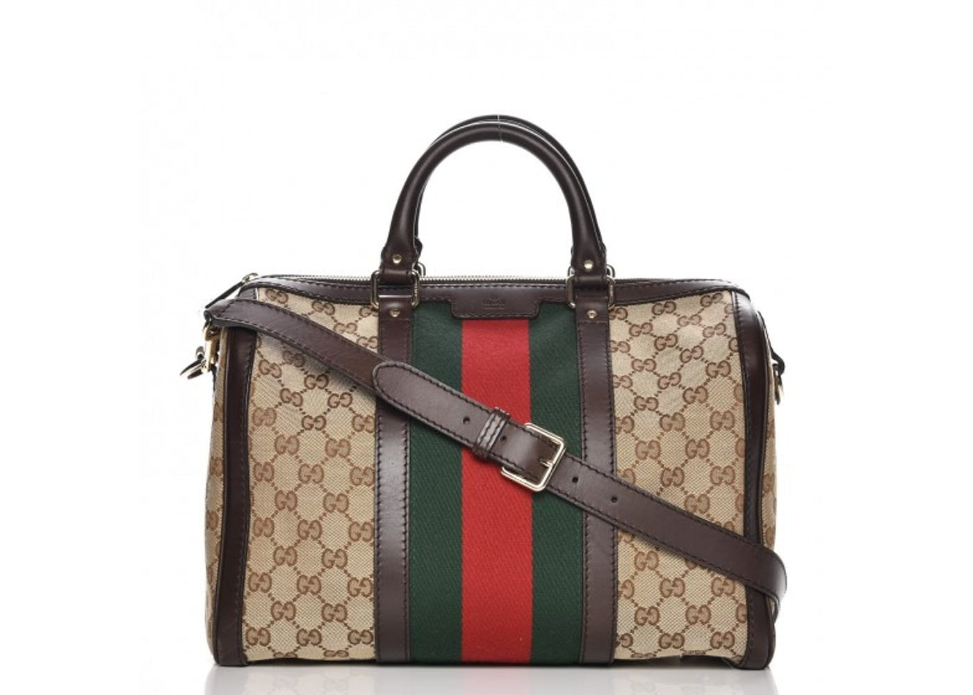 88f3f504fe94 Gucci Vintage Web Boston Bag Black Red Green | Stanford Center for ...