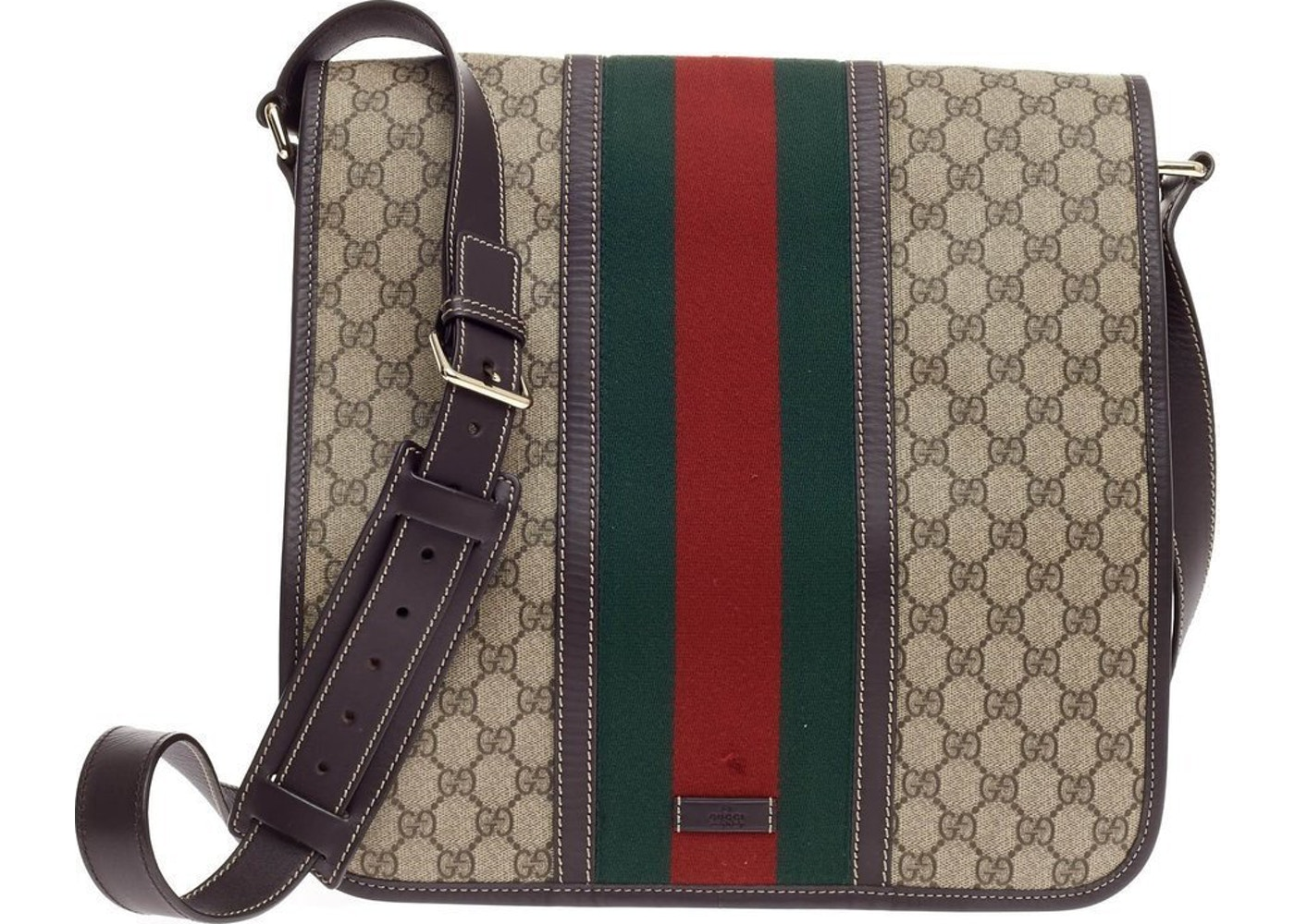 8366ebbde83a62 Sell. or Ask. View All Bids. Gucci Vintage Web Flap Messenger GG Supreme ...