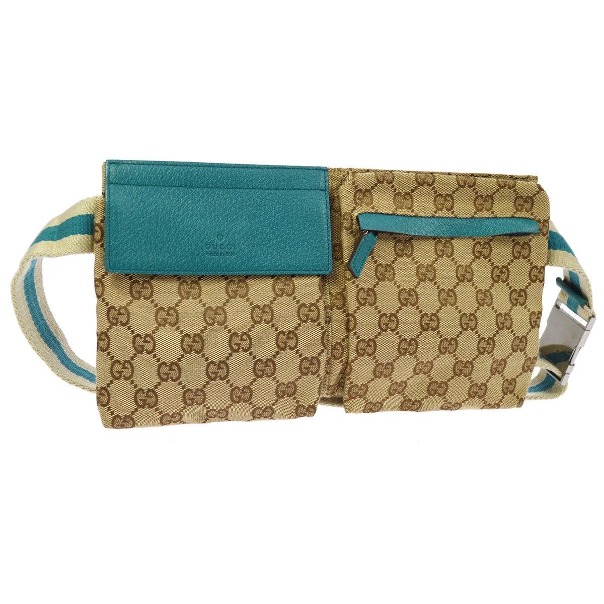 Gucci Flap Waist Bag GG Monogram Brown/Beige/Turquoise