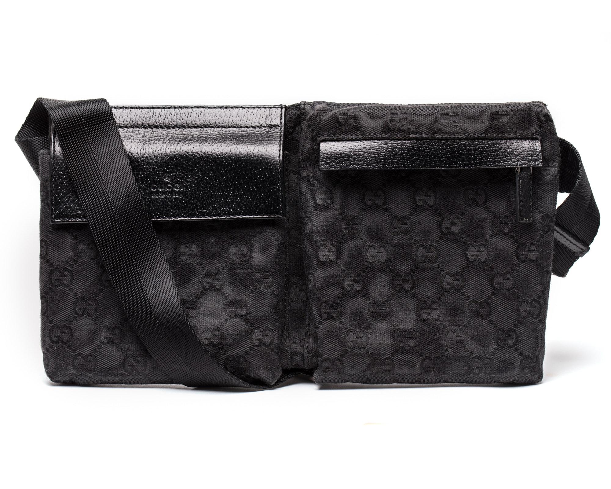 Gucci Flap Waist Bag GG Monogram Dark Brown