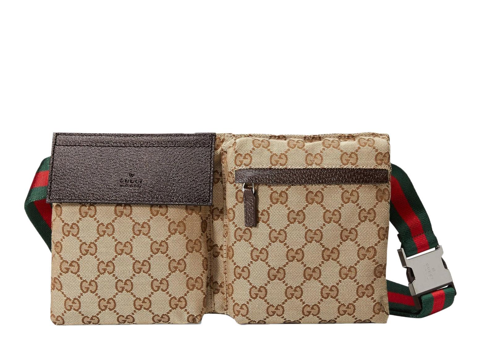 Gucci Waist Bag GG Supreme Web Strap Beige