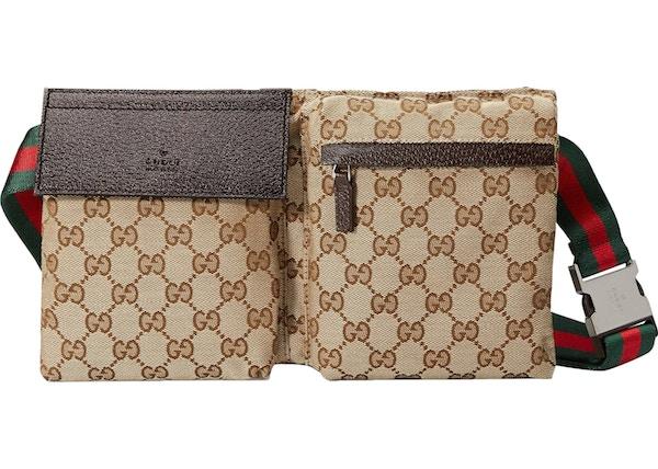 84242ea5d3bd3b Gucci Waist Bag GG Supreme Web Strap Beige