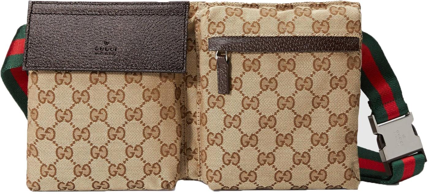 Gucci Waist Bag Monogram GG Web Strap Beige