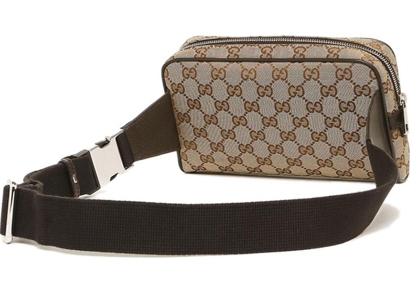 7205cf7aee9f4 Gucci Waist Bag GG Supreme Small Beige Black