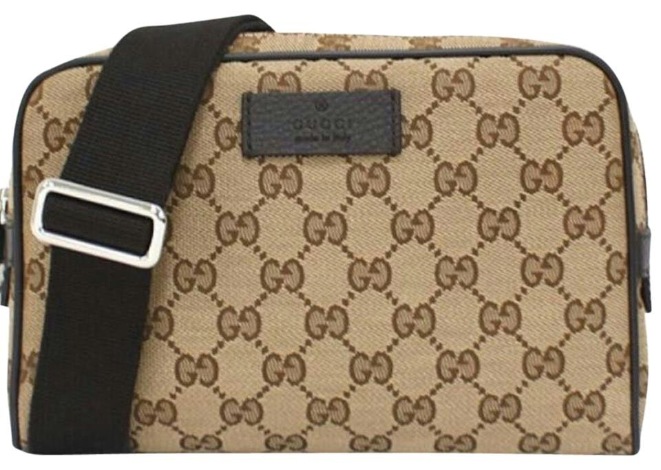 Gucci Fanny Pack Waist Bag Guccissima Small Beige/Brown
