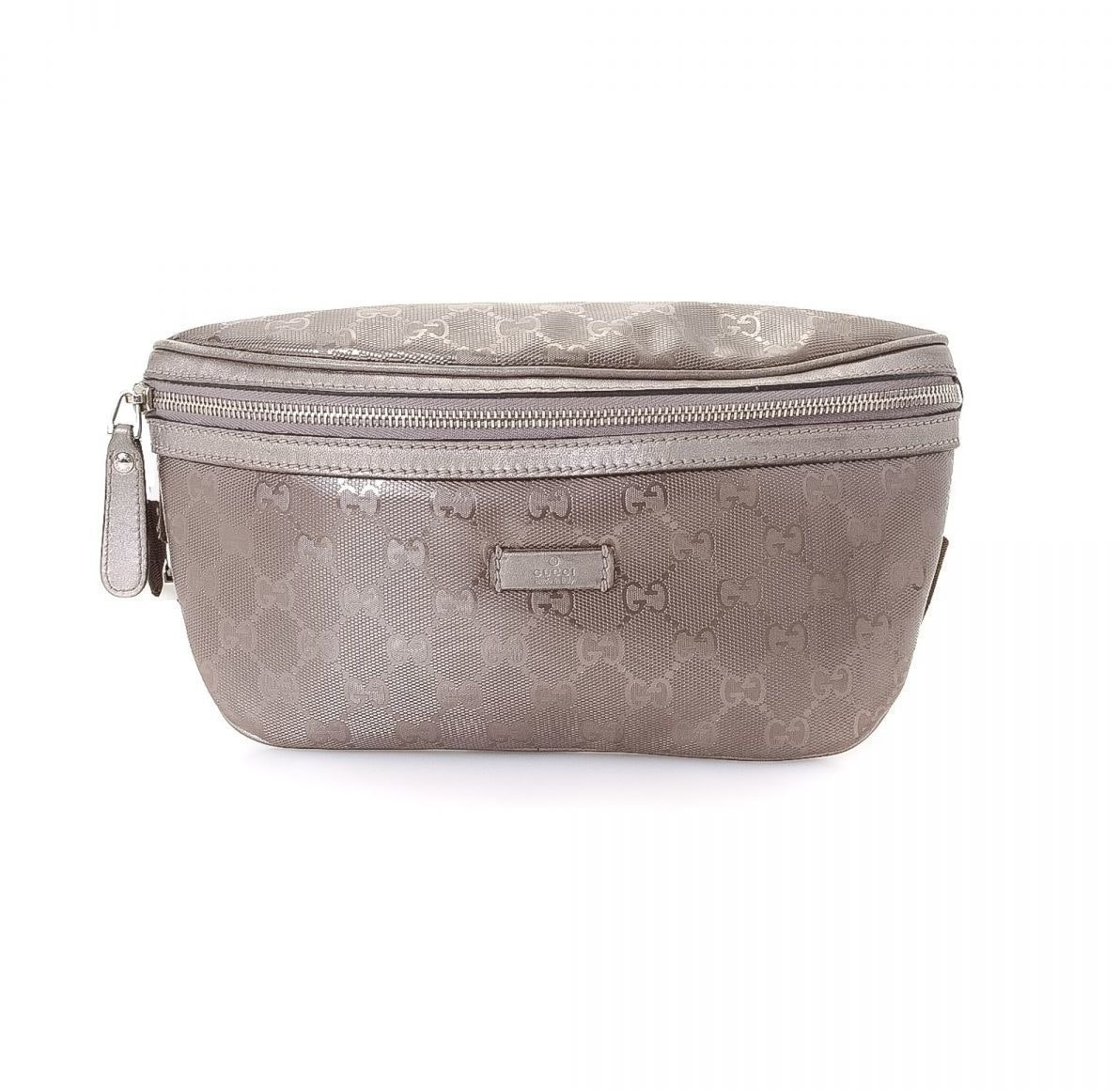 Gucci Pouch Waist Monogram GG Imprime Metalic Grey