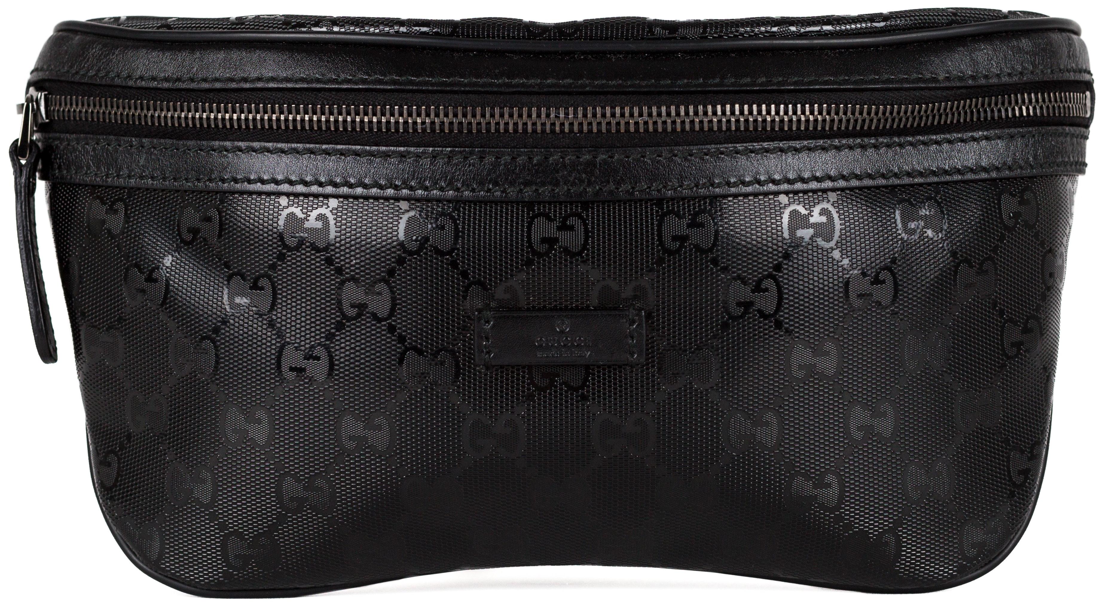 Gucci Waist Pouch GG Imprime Black