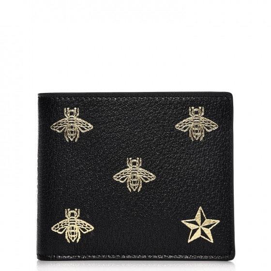 Gucci Bifold Wallet Bee Star Black
