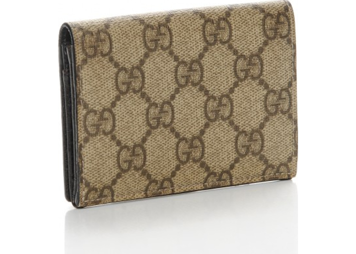 7e63afa92a63 Sell. or Ask. View All Bids. Gucci Business Card Holder Wallet Monogram GG  Plus Brown/Beige