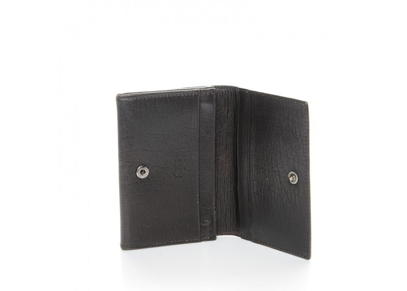 Gucci Business Card Holder Wallet Monogram GG Plus Brown/Beige