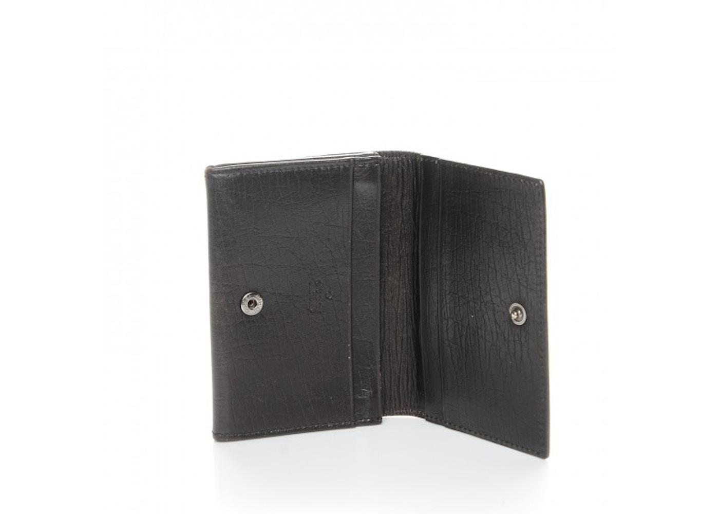 Gucci business card holder wallet monogram gg plus brownbeige colourmoves