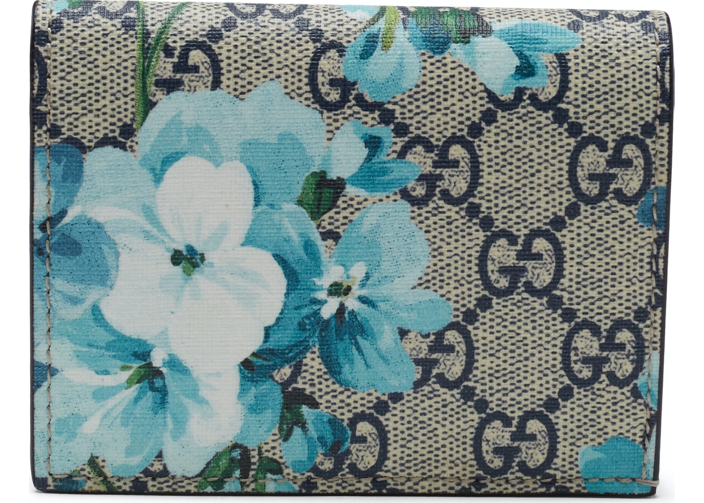 845a0836acc718 Gucci Card Case Wallet Blooms GG Supreme Blue/Beige/Red