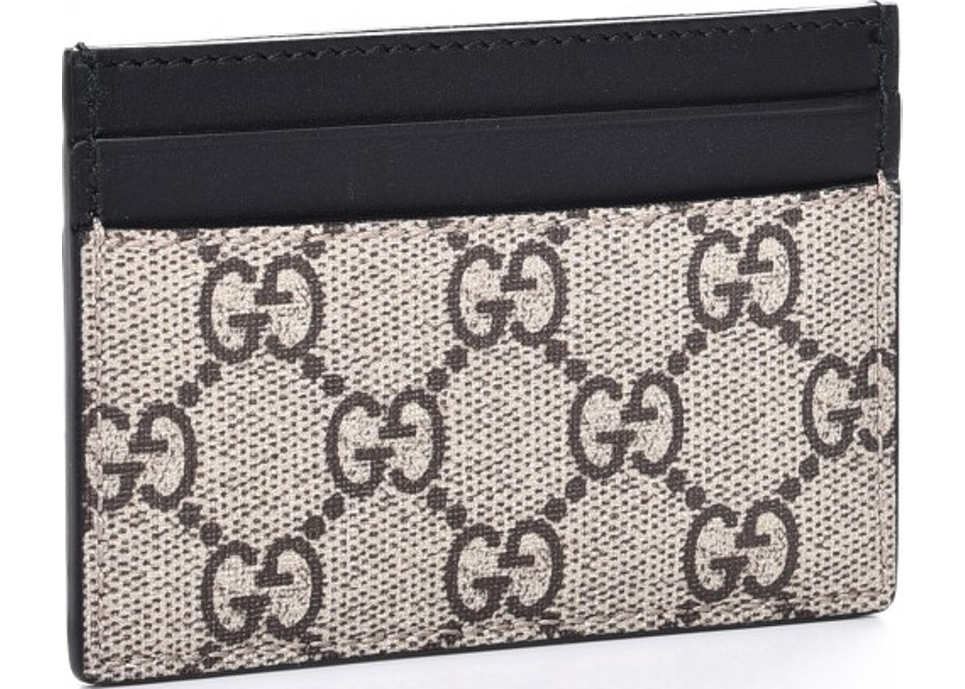Sell. or Ask. View All Bids. Gucci Card Case GG Supreme Bee Print Black  Beige c8295638a2f