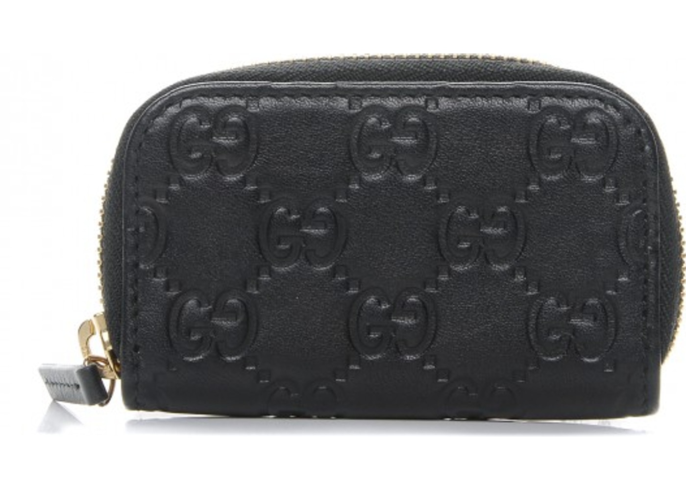 cb601615fd3 Gucci Coin Purse Zip Around Wallet Monogram Guccissima Black. Monogram  Guccissima Black