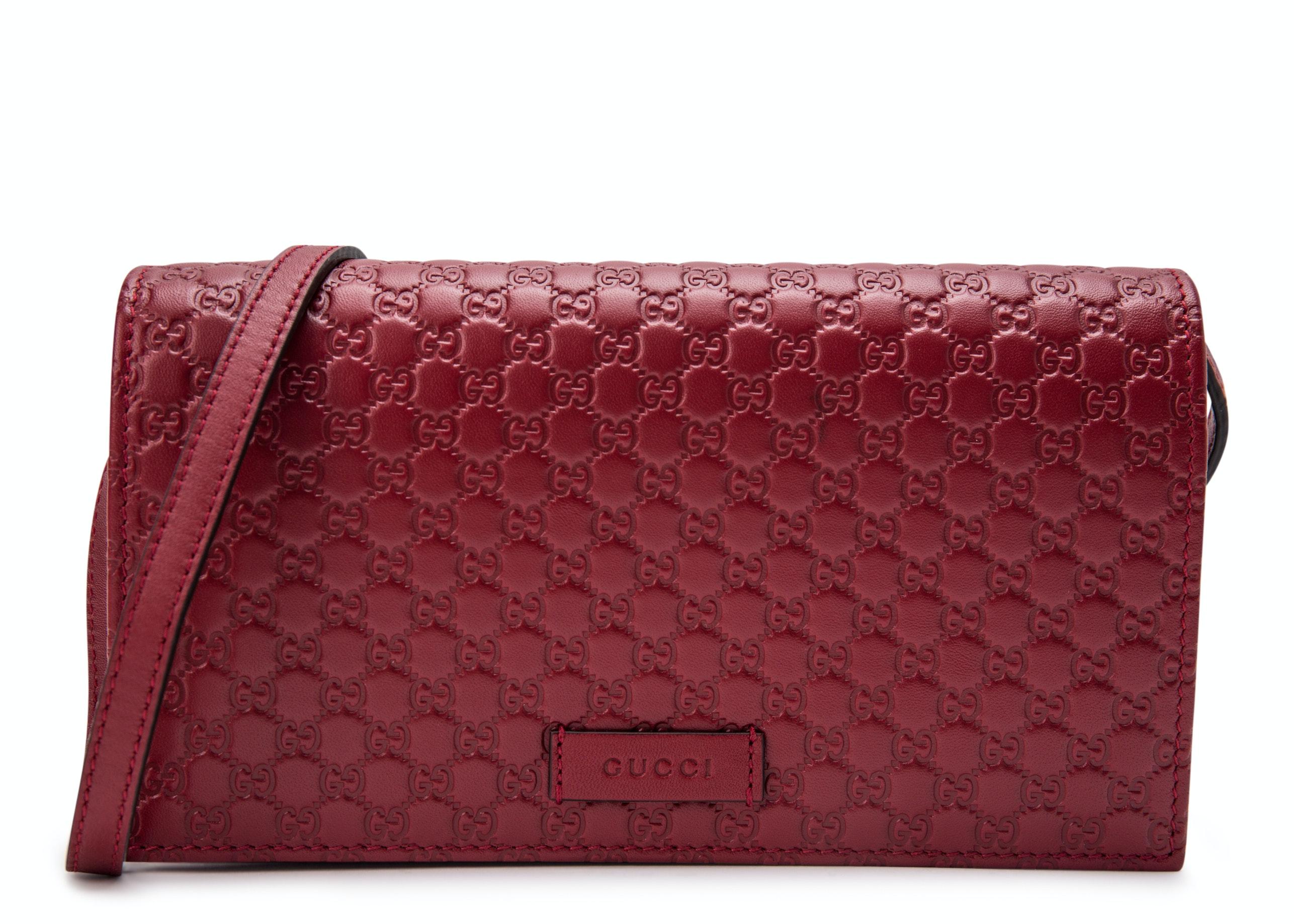 Gucci Wallet Crossbody MicroGuccissima Red