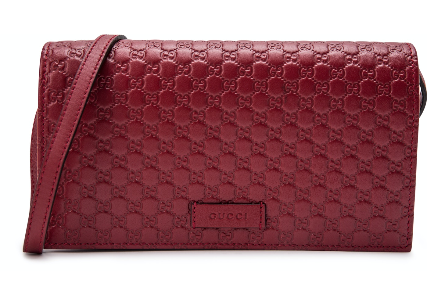 b9fe0c0405b Gucci Wallet Crossbody MicroGuccissima Red. MicroGuccissima Red