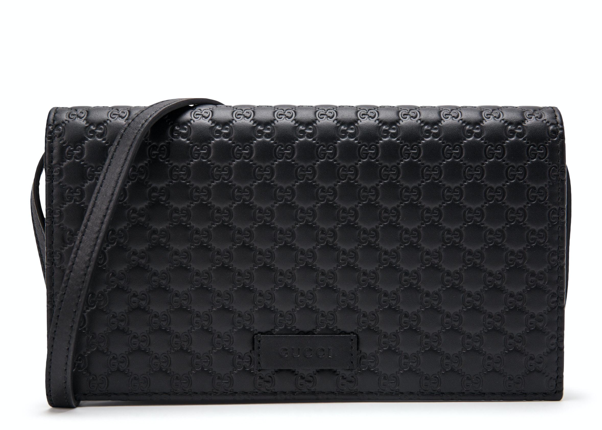 Gucci Wallet Crossbody MircoGuccissima Black