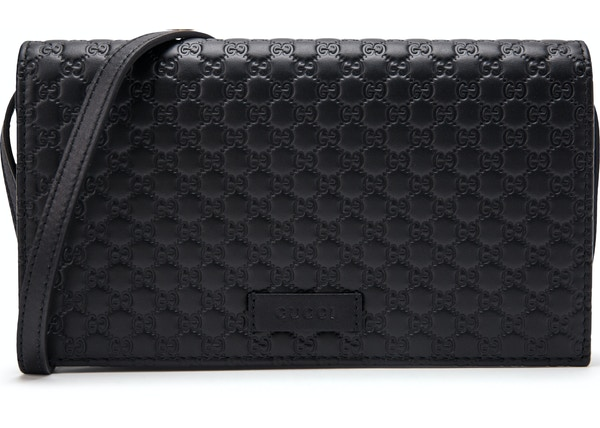 1ed500da Gucci Wallet Crossbody MircoGuccissima Black