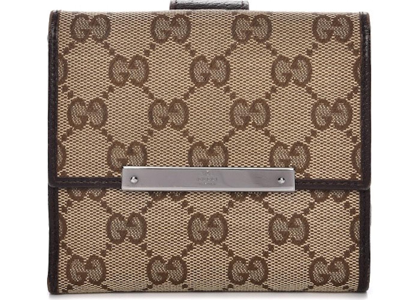 428330728574 Gucci French Flap Wallet Monogram GG Dark Brown/Brown/Beige. Monogram GG  Dark Brown/Brown/Beige