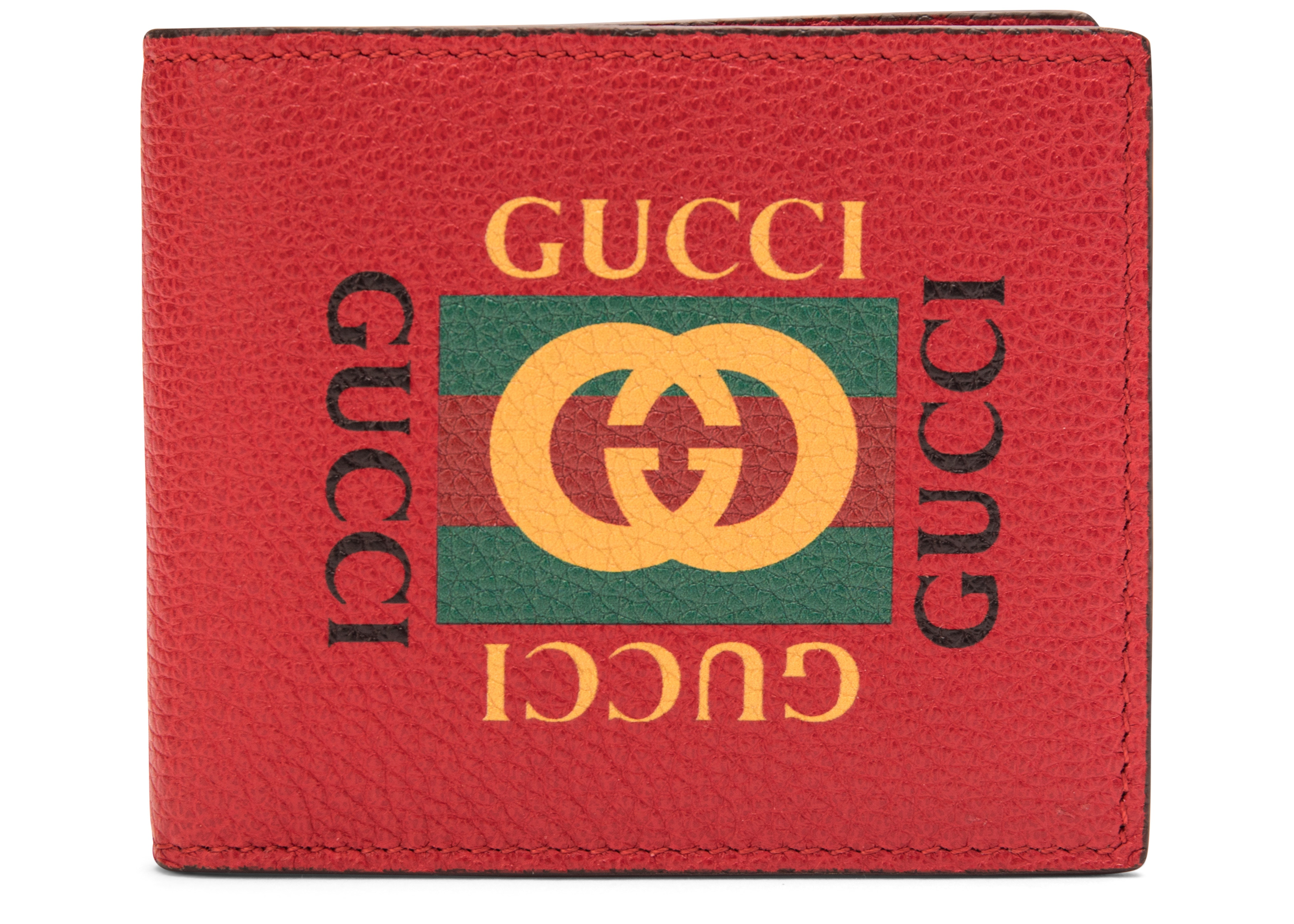 Gucci Logo Bifold Wallet Red