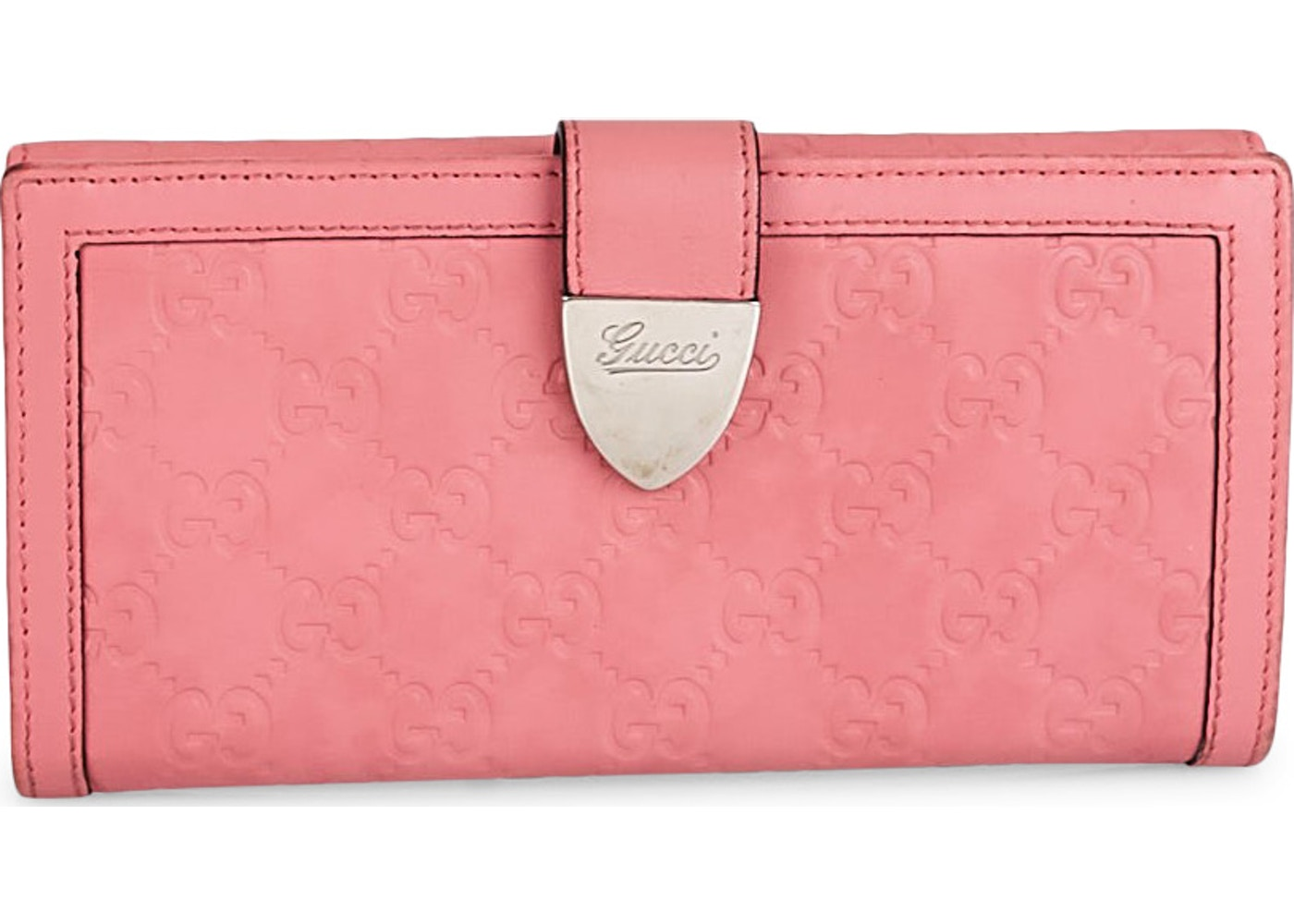 aa5d9c73220 View All Bids. Gucci Long Flap Wallet Monogram Guccissima Pink. Monogram  Guccissima Pink
