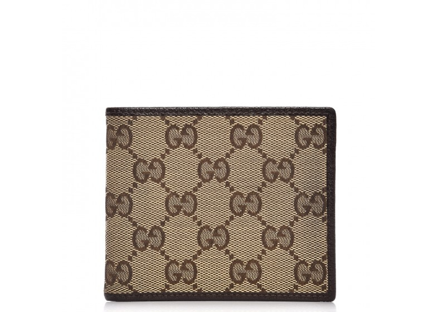 dc64584adedf45 Gucci Mens Bifold Wallet Monogram Gg Brown/beige | Stanford Center ...