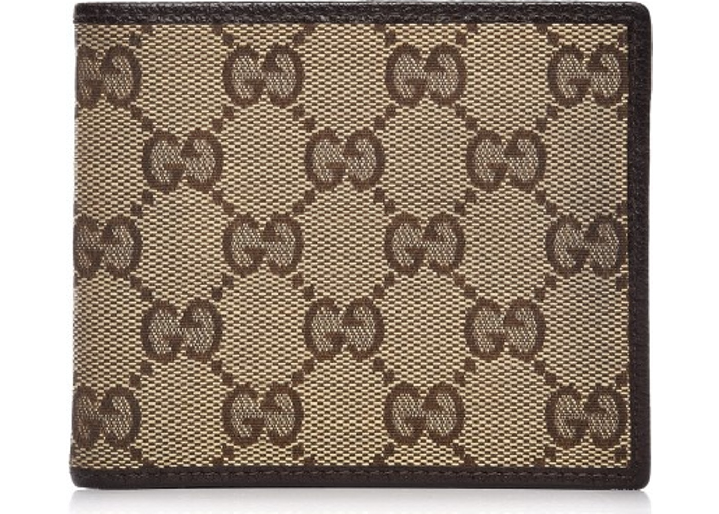 821d37528162 Gucci Mens Bifold Wallet Monogram GG Brown Beige. Monogram GG Brown Beige