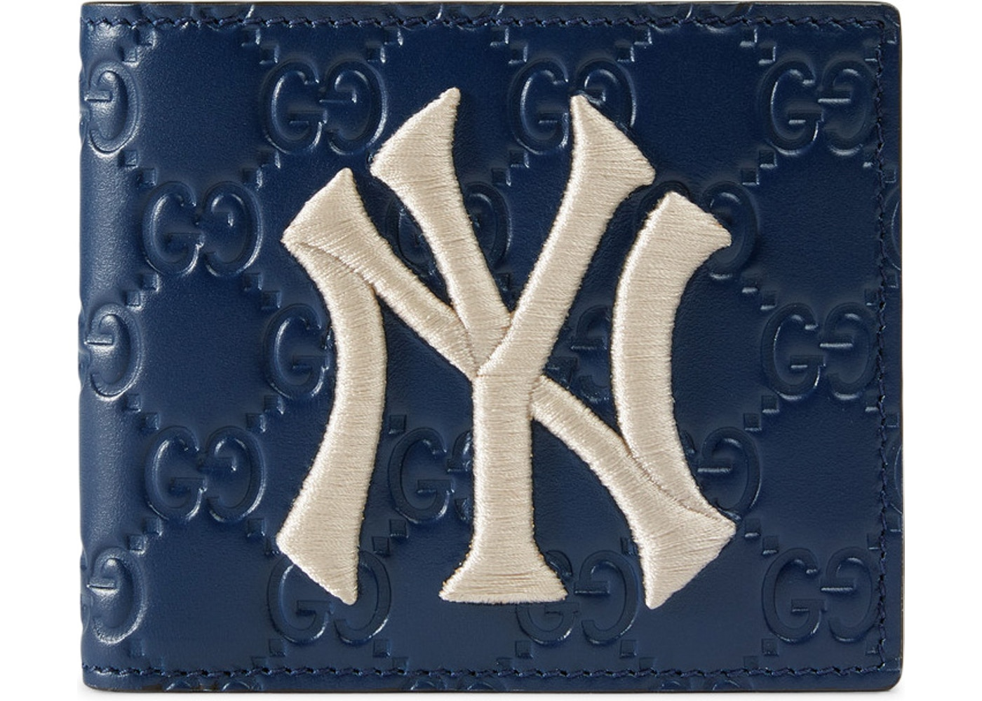 e8280d6827a8 Gucci Wallet NY Yankees Patch Royal Blue