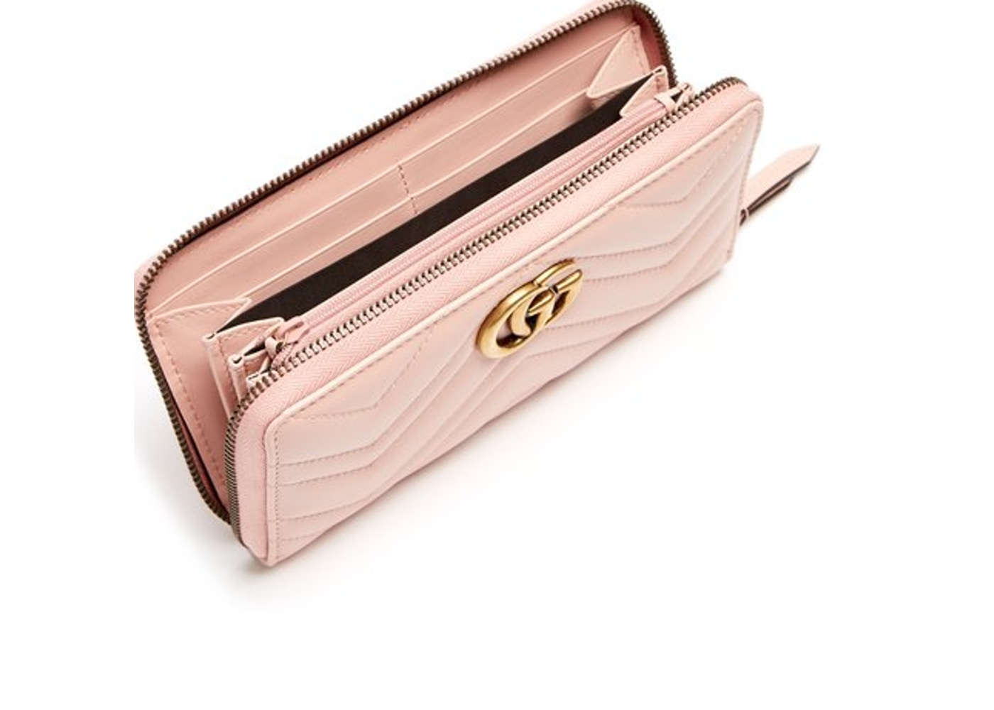 8e29b1f4807 Gucci Marmont Wallet Zip Around Matelasse Perfect Pink