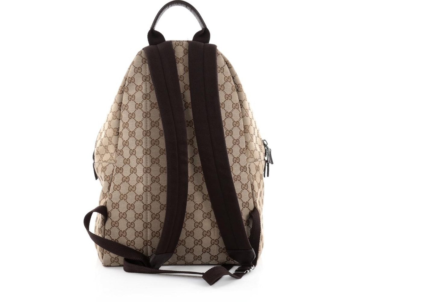 46bf005b519 Gucci Web Backpack GG Web Stripes Medium Brown Green Red