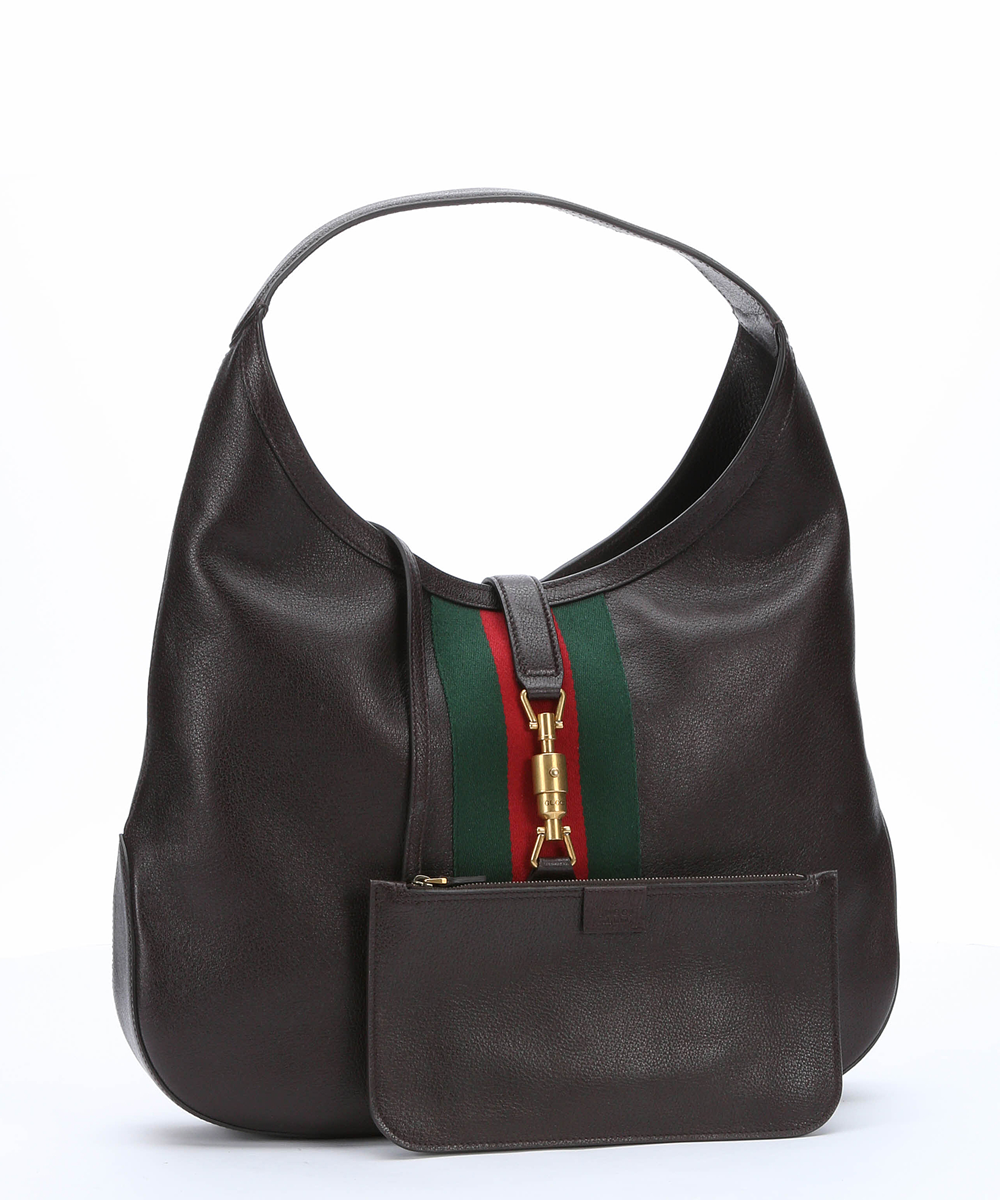 Gucci Web Hobo (With Pouch) Large Brown