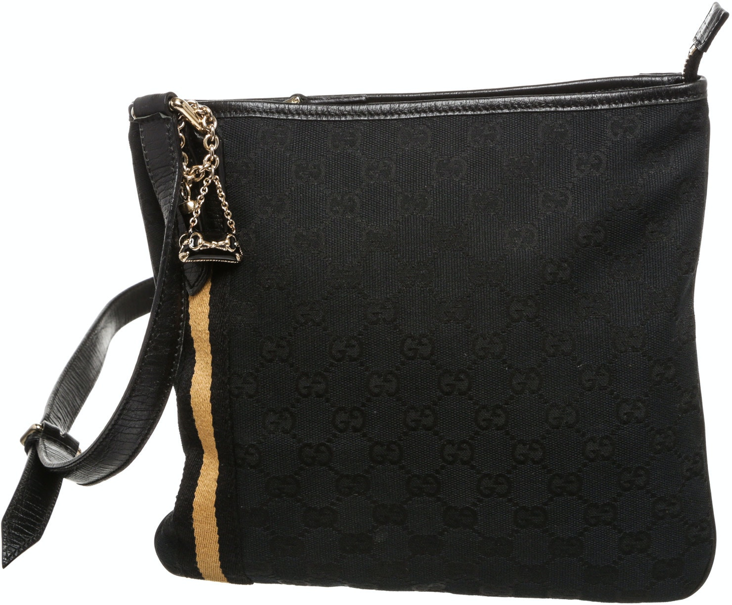 Gucci Web Jolicoeur Charms Messenger Monogram GG Black